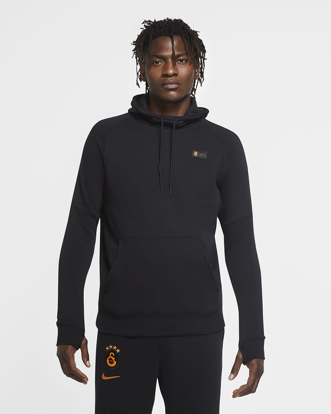 Galatasaray Men's Fleece Pullover Football Hoodie