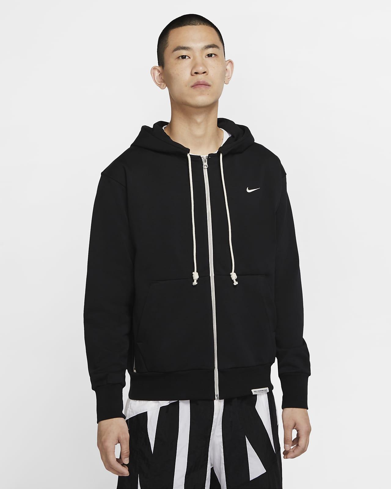 Nike Standard Issue 男子全长拉链开襟篮球连帽衫