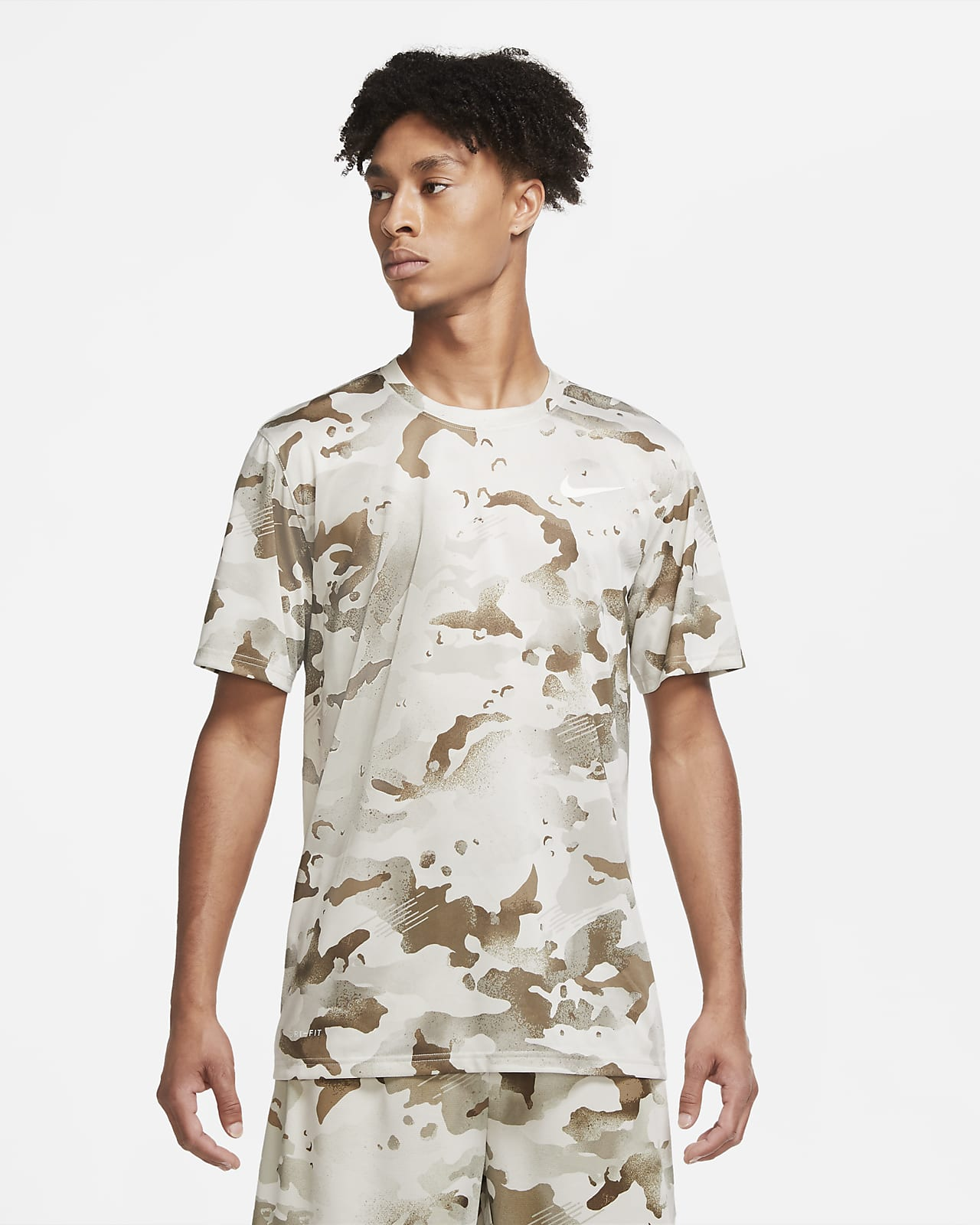 Nike Dri-FIT Trainings-T-Shirt im Camo-Design für Herren