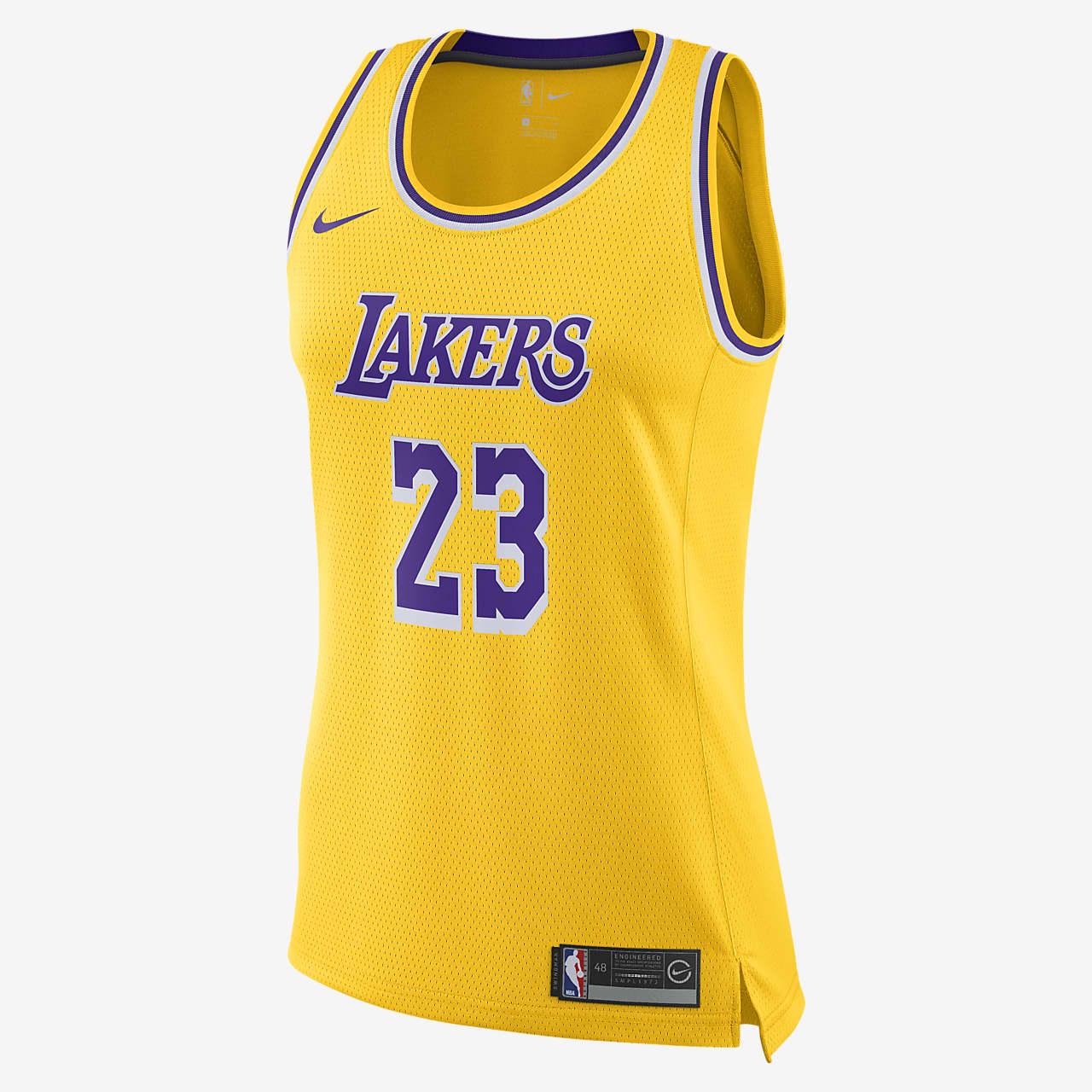LeBron James Lakers Icon Edition Women's Nike NBA Swingman Jersey
