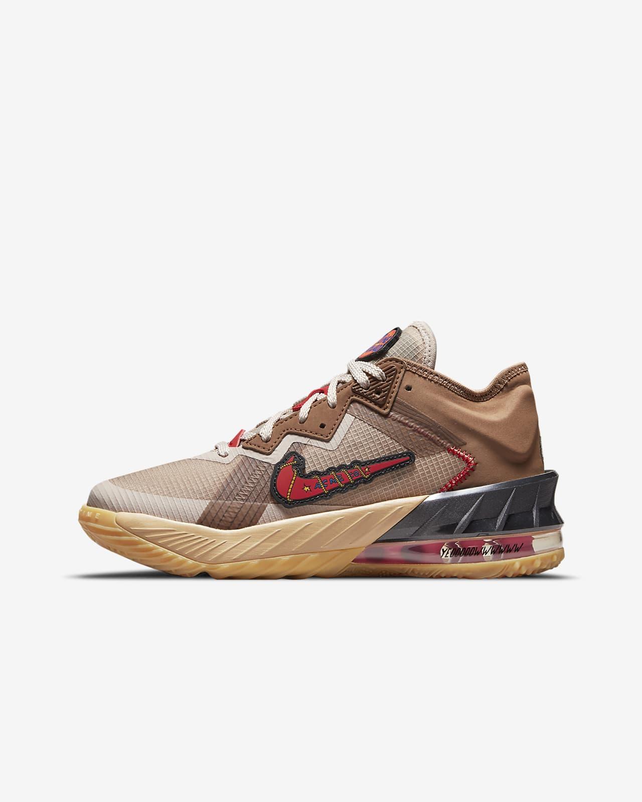 LeBron 18 Low 'Wile E. vs Roadrunner' Big Kids' Basketball Shoes