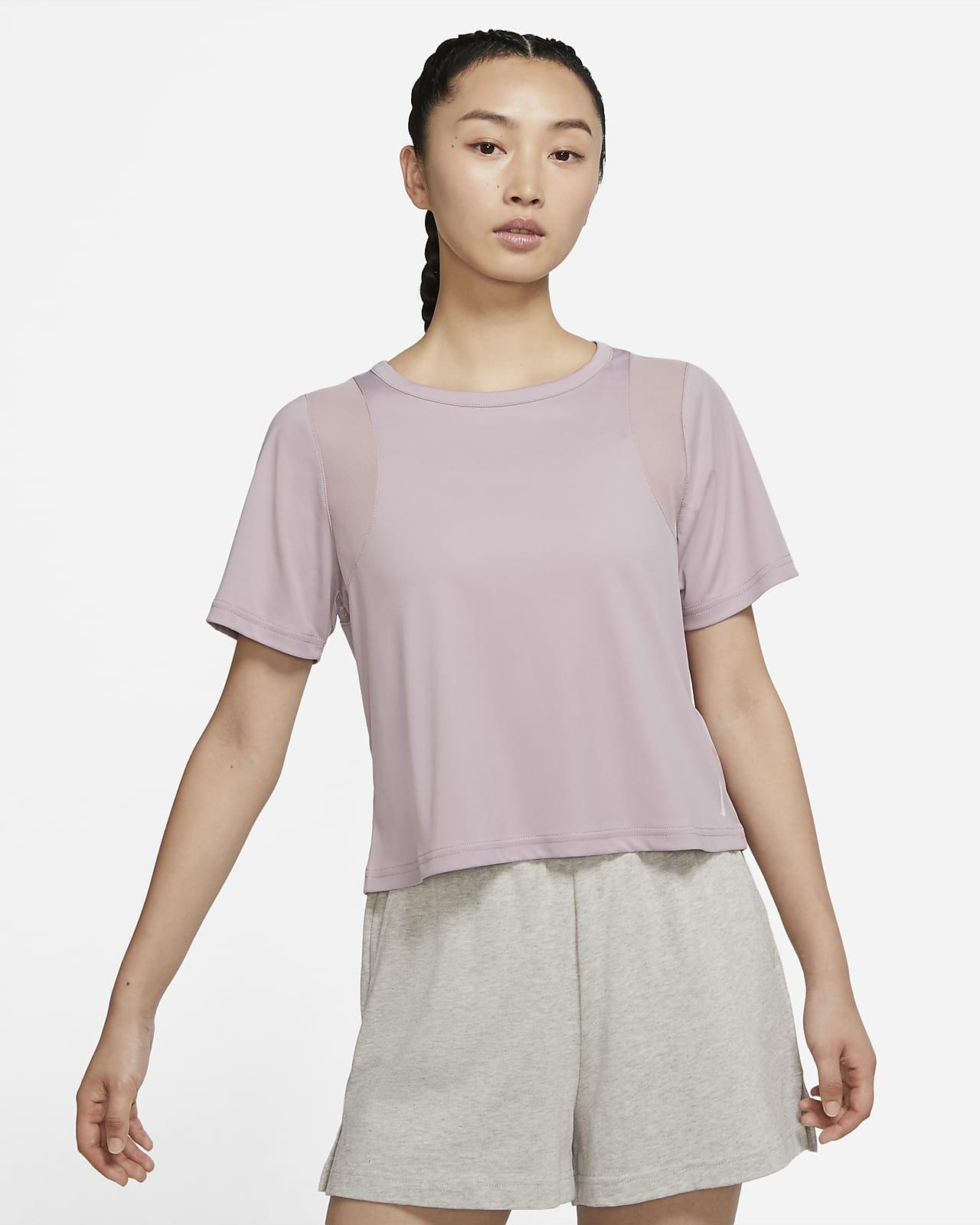 Nike Yoga Dri-FIT Mesh 女子短袖上衣