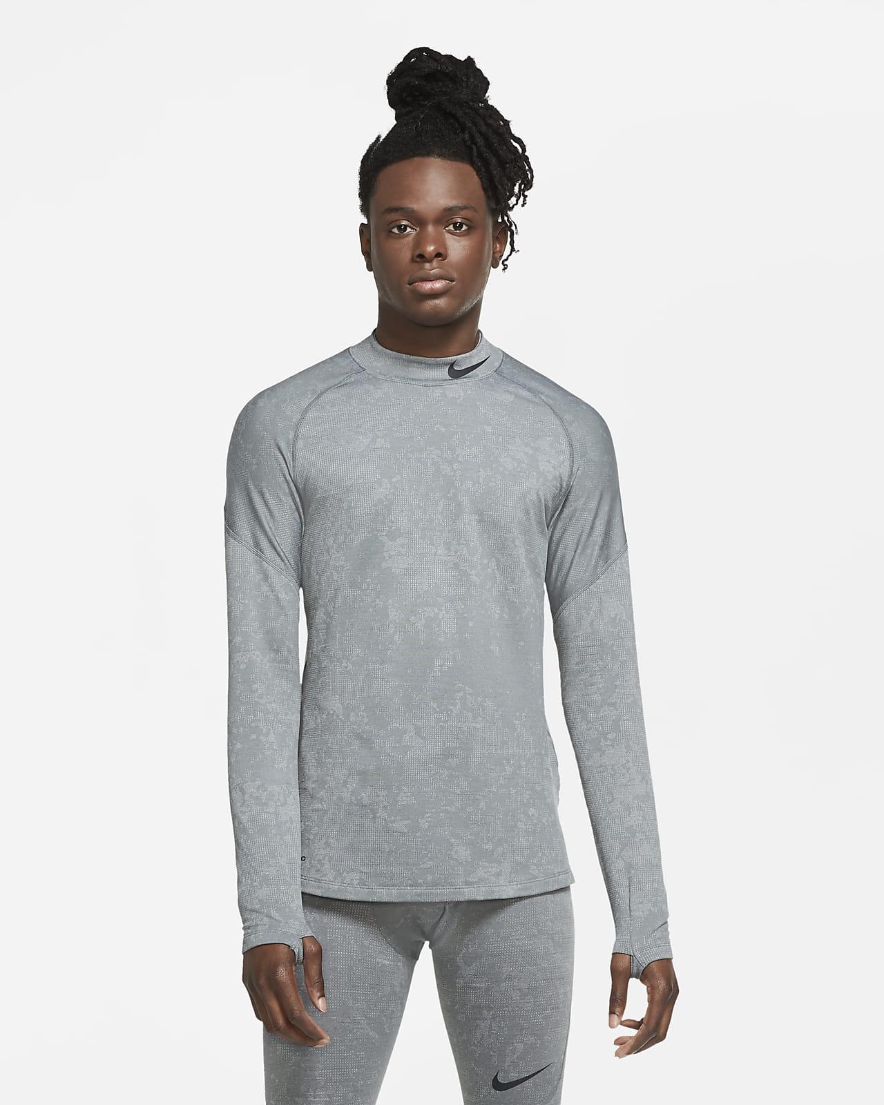 Мужская футболка с длинным рукавом для тренинга Nike Pro Warm Utility