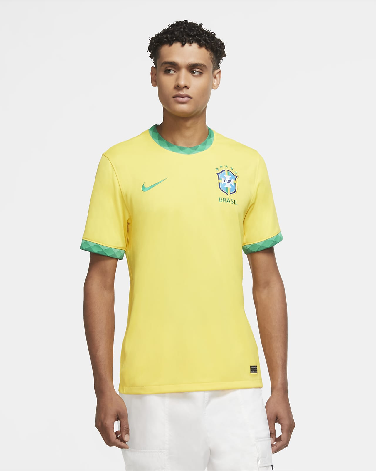 Fotbollströja Brasil 2020 Stadium Home för män