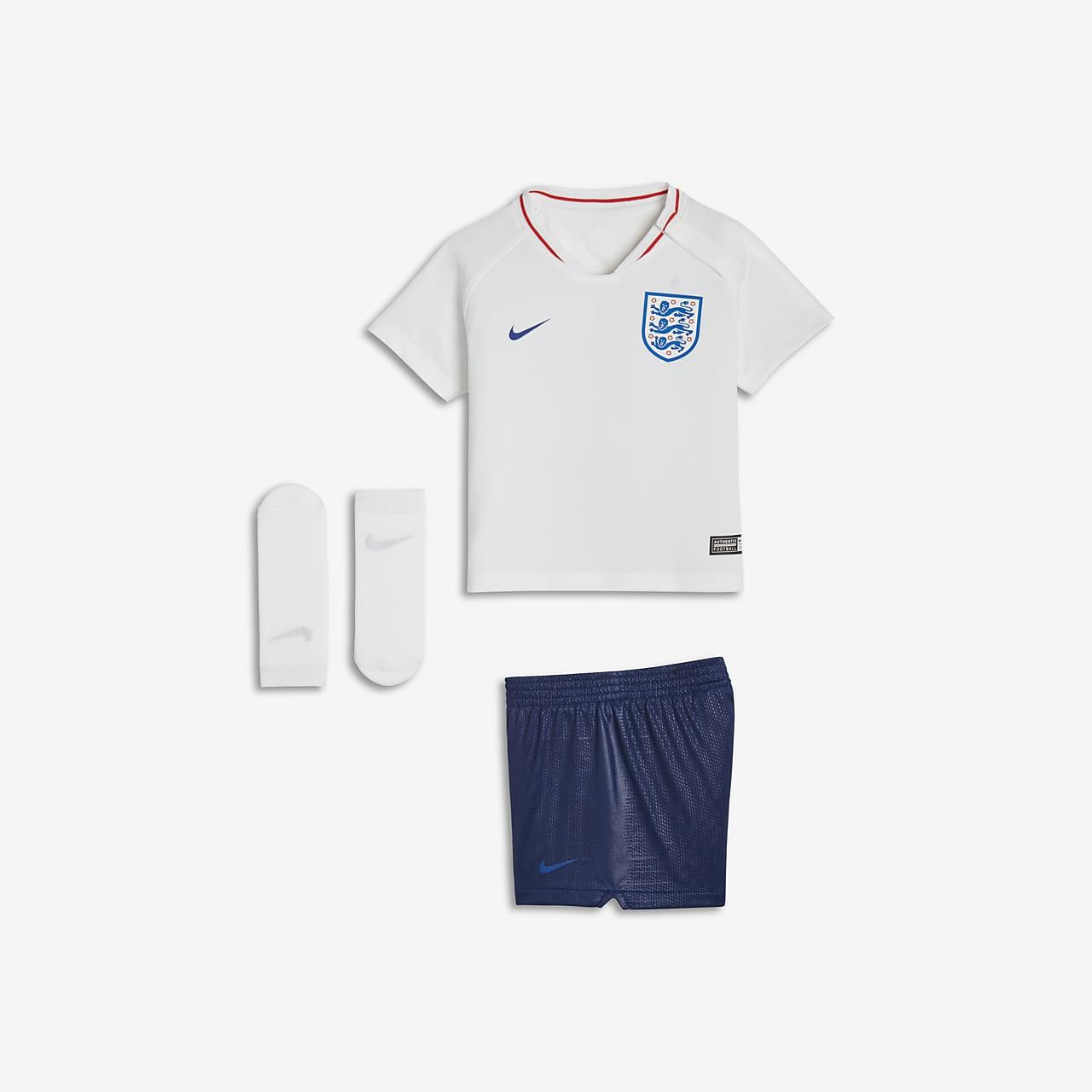 2018 England Stadium Home Fußballtrikot-Set für Kleinkinder