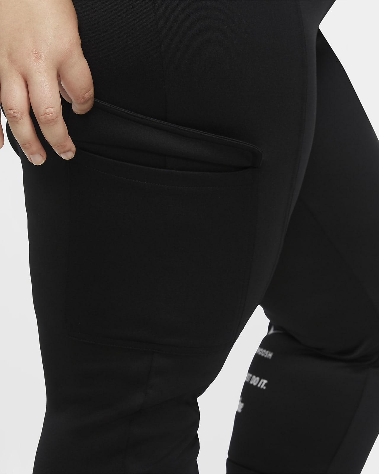 Nike Sportswear Swoosh polystrikket bukse til dame (Plus