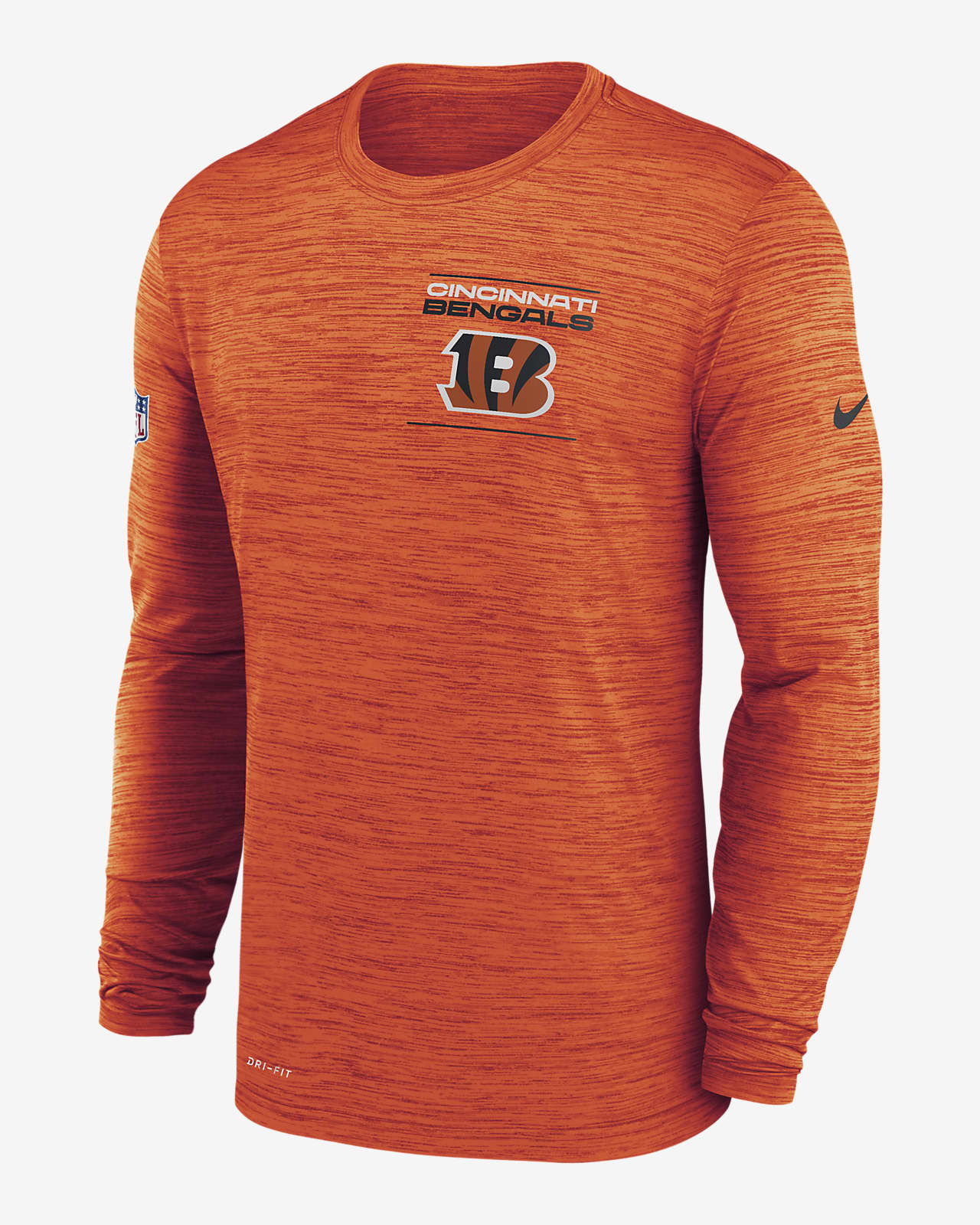 Nike Dri-FIT Sideline Velocity Legend (NFL Cincinnati Bengals) Men's Long-Sleeve T-Shirt