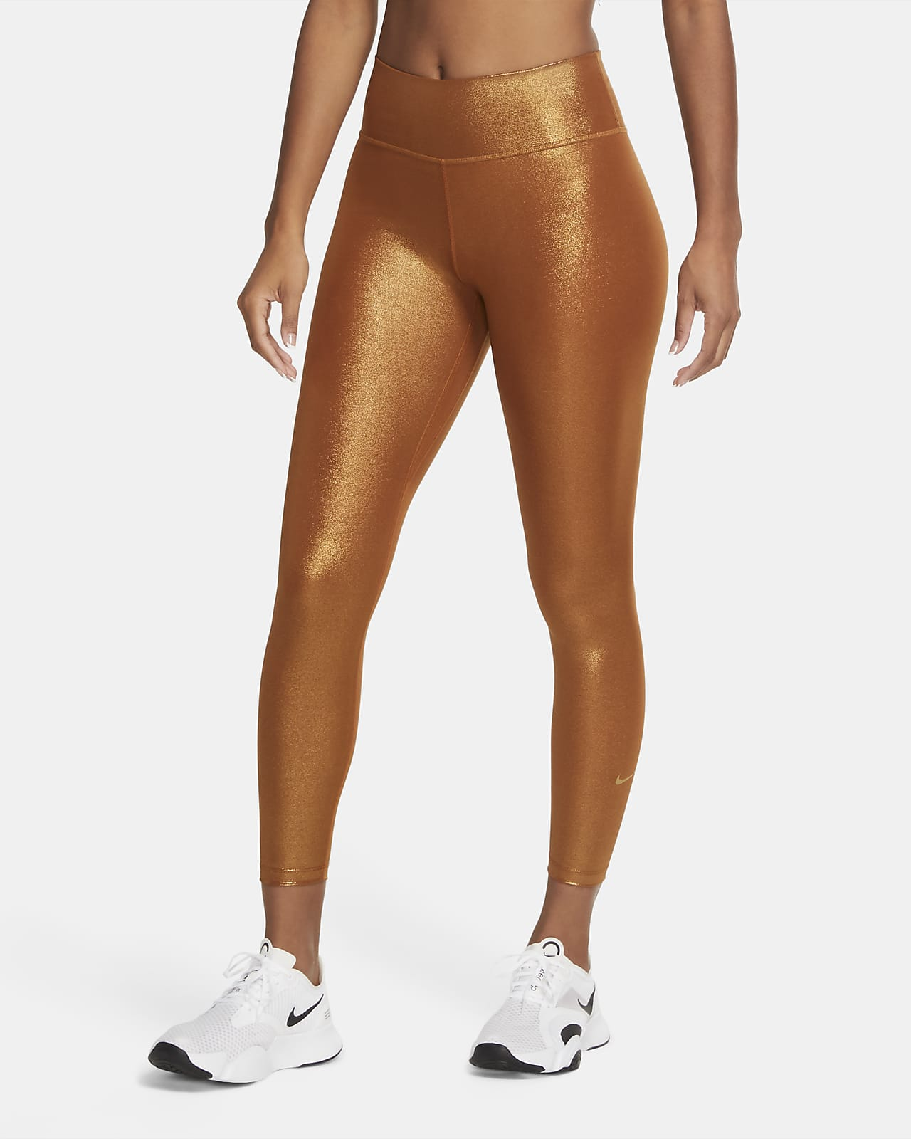 Nike One Icon Clash-7/8-tights med glitter til kvinder
