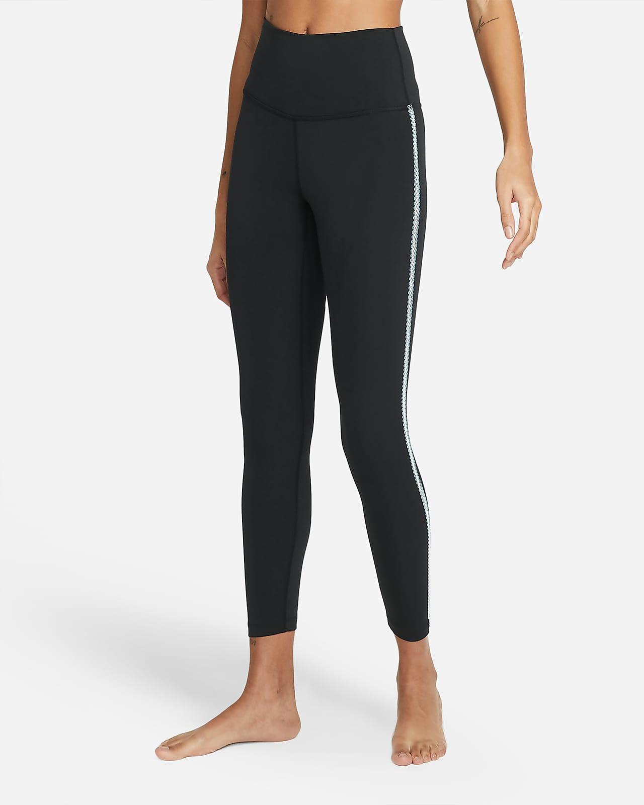 Leggings a 7/8 con bordo all'uncinetto Nike Yoga - Donna