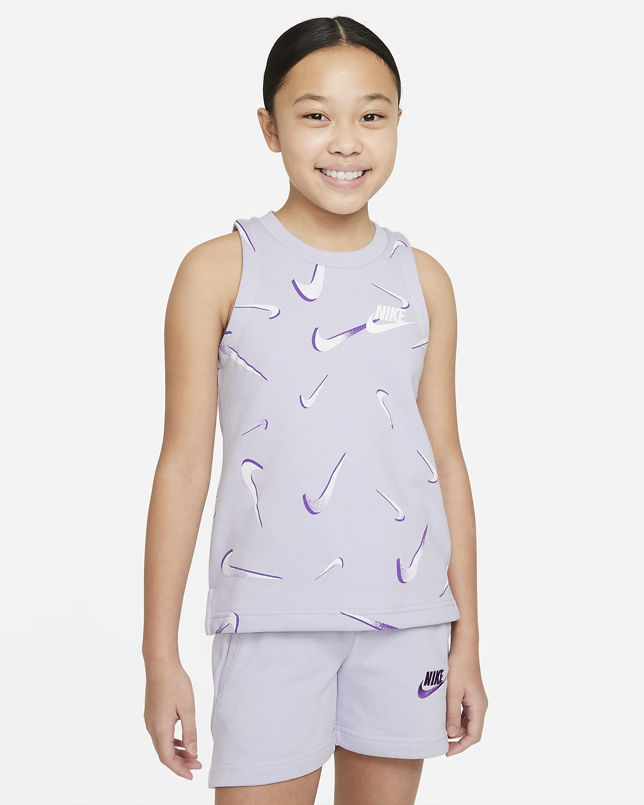 Nike Sportswear 大童 (女童) 法國毛圈布印花背心