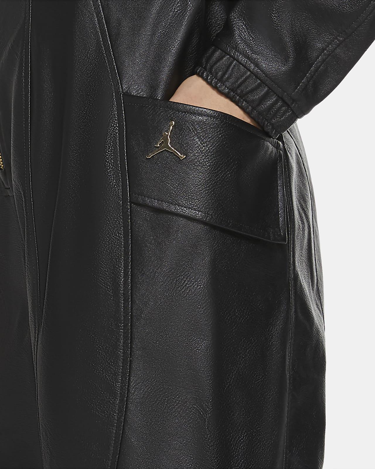 Jordan Court-To-Runway Women's Faux Leather Flightsuit. Nike SA