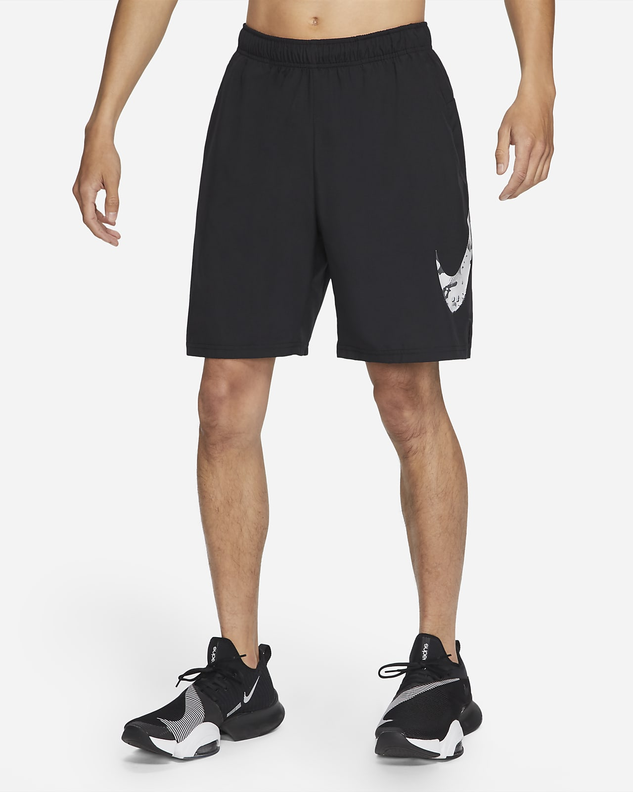 กางเกงเทรนนิ่งขาสั้นผู้ชายมีกราฟิกลายพราง Nike Flex