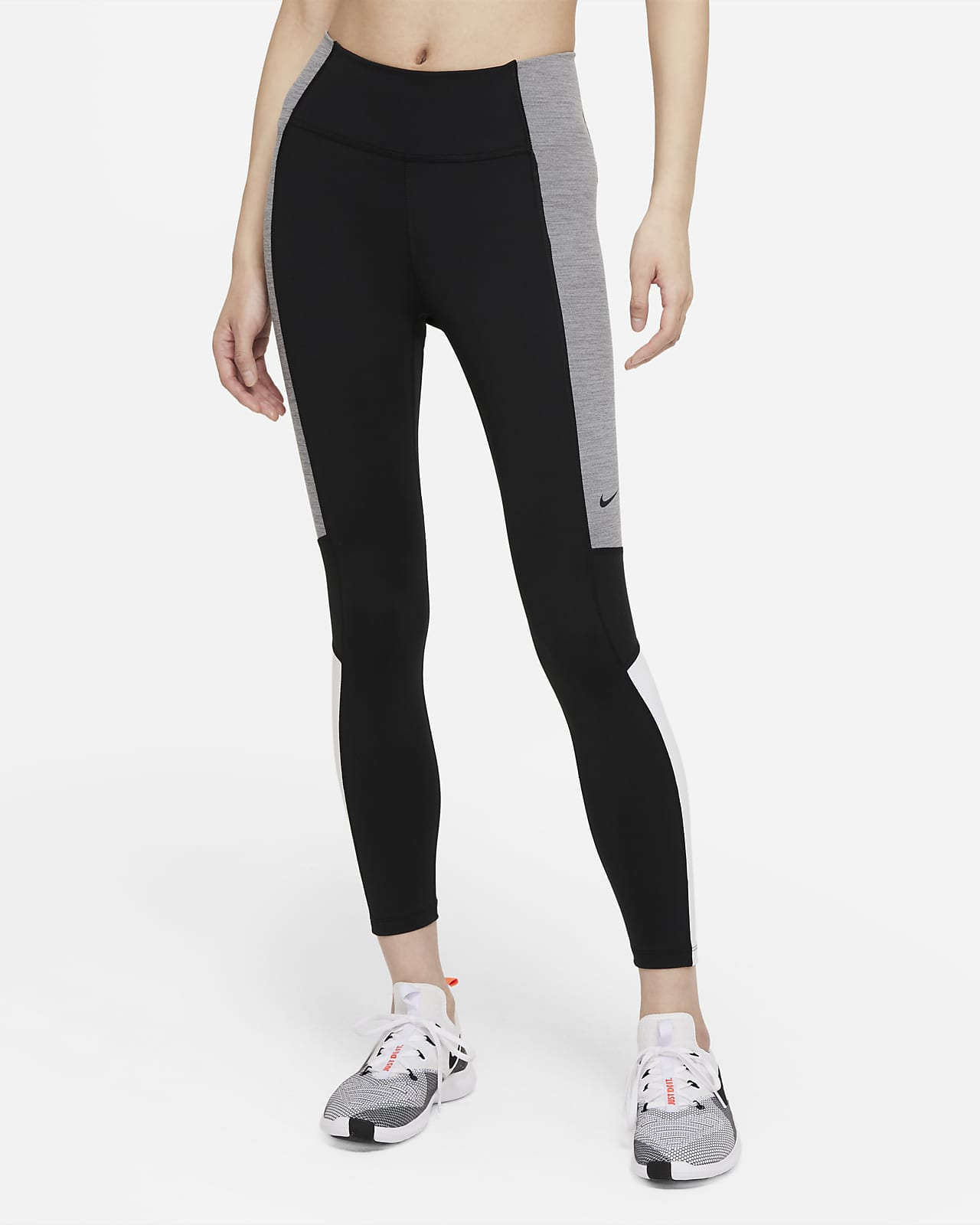 Nike Dri-FIT One 女款中腰色塊九分內搭褲