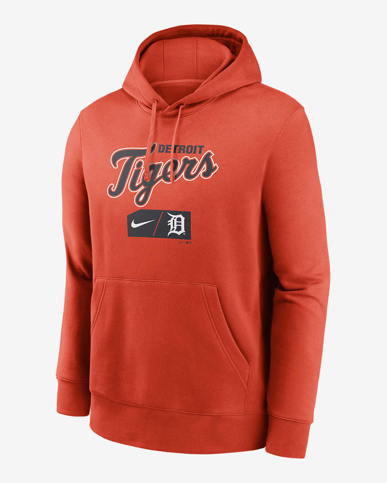 Nike Lettering Club (MLB Detroit Tigets) Men's Pullover Hoodie