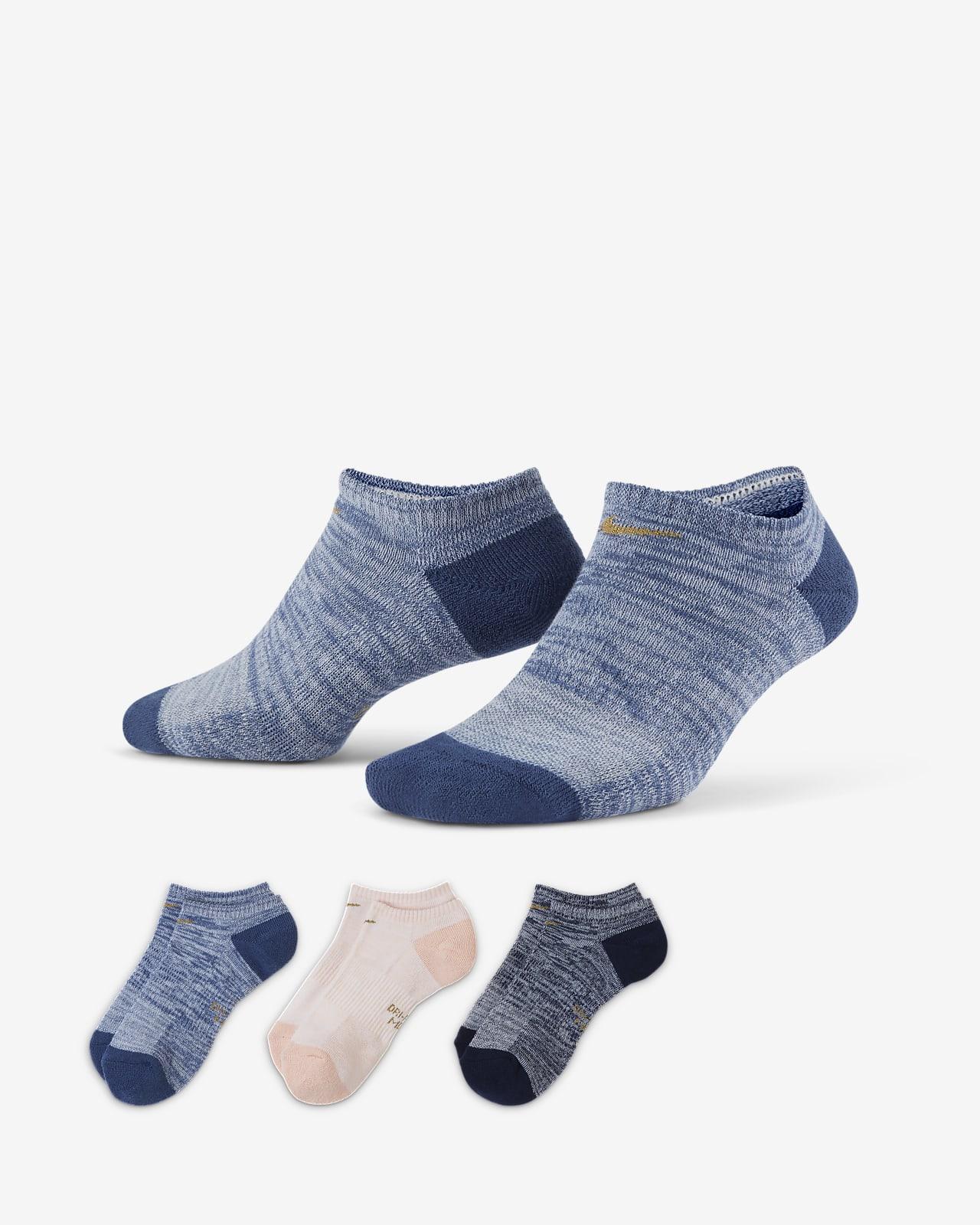 Nike Everyday Cushioned Women's Training No-Show Socks (3 Pairs)