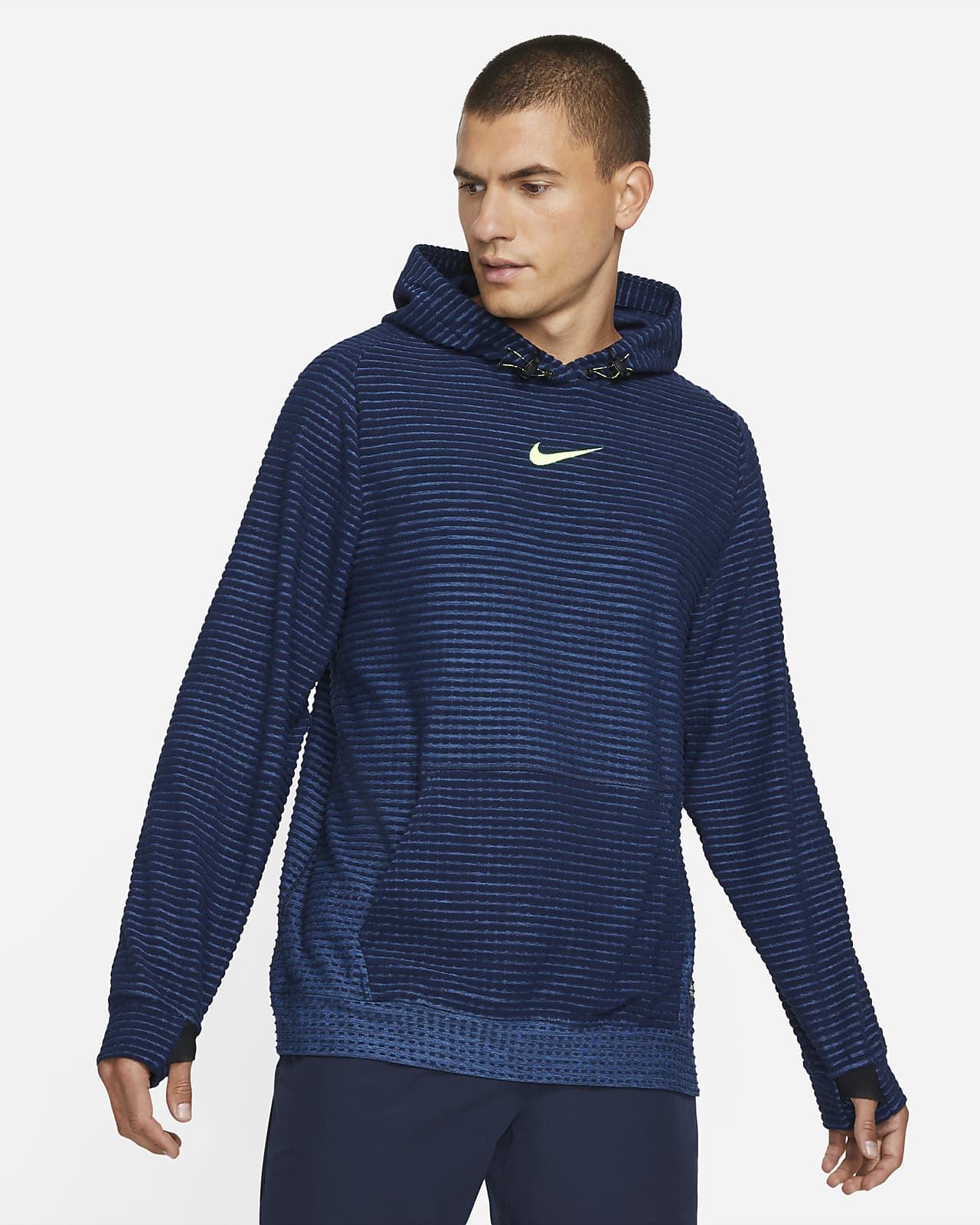 Felpa pullover in fleece con cappuccio Nike Pro Therma-FIT ADV - Uomo