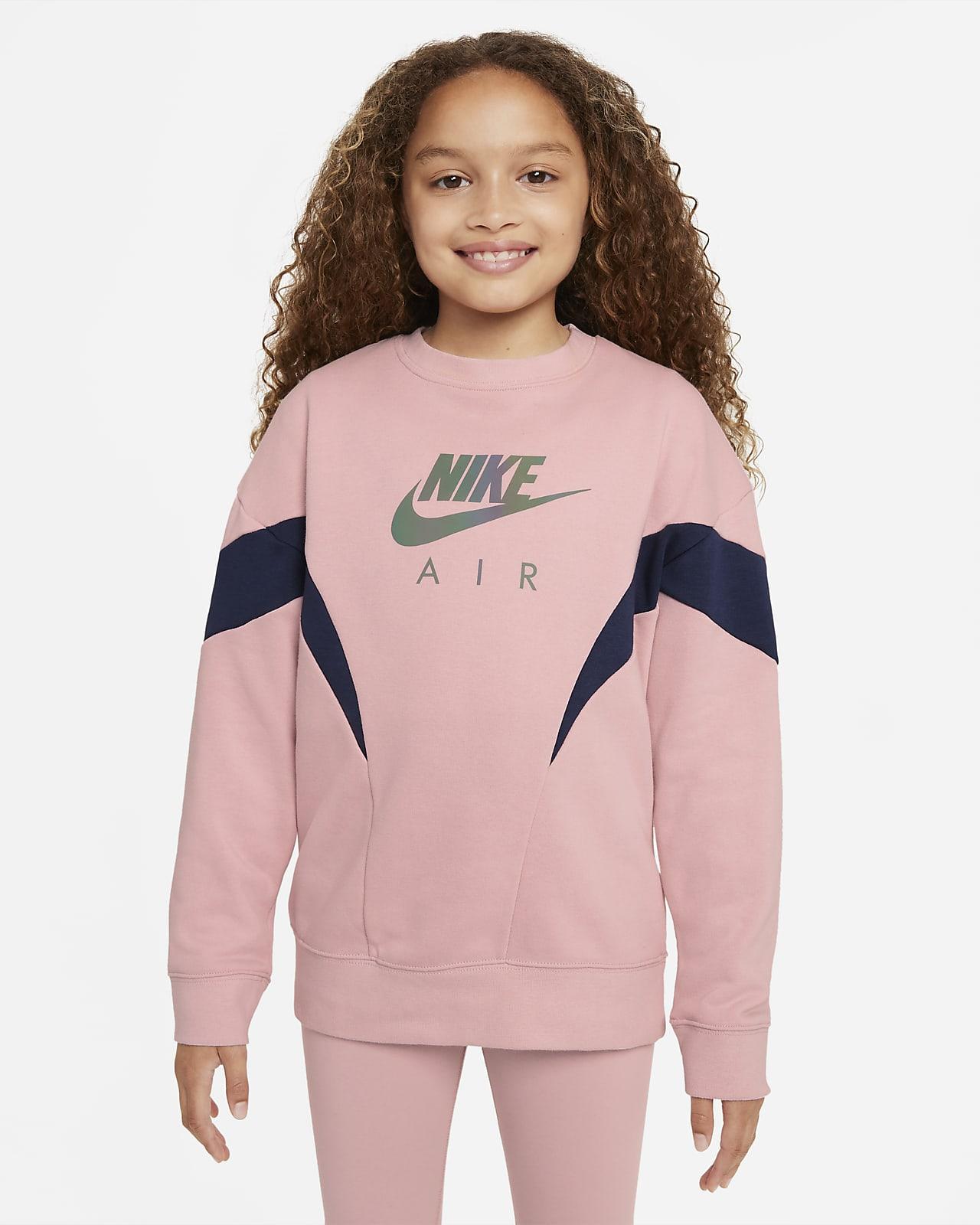 Φούτερ από ύφασμα French Terry Nike Air για μεγάλα κορίτσια