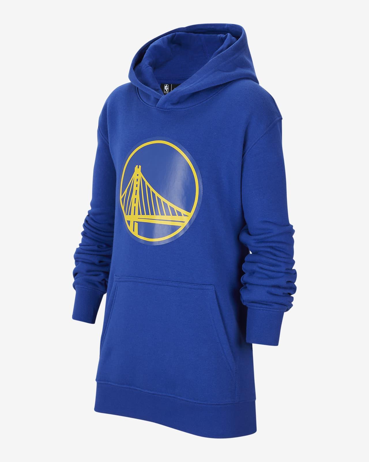 Bluza z kapturem dla dużych dzieci Nike NBA Golden State Warriors Essential