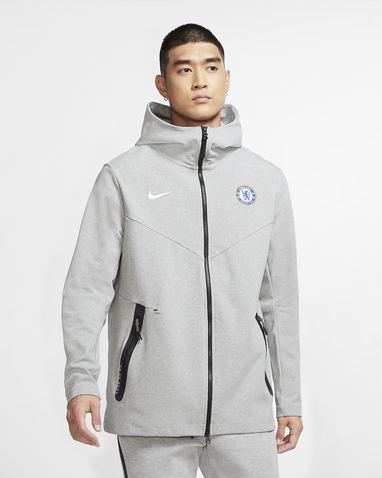 Chelsea FC Tech Pack Hoodie met rits voor heren