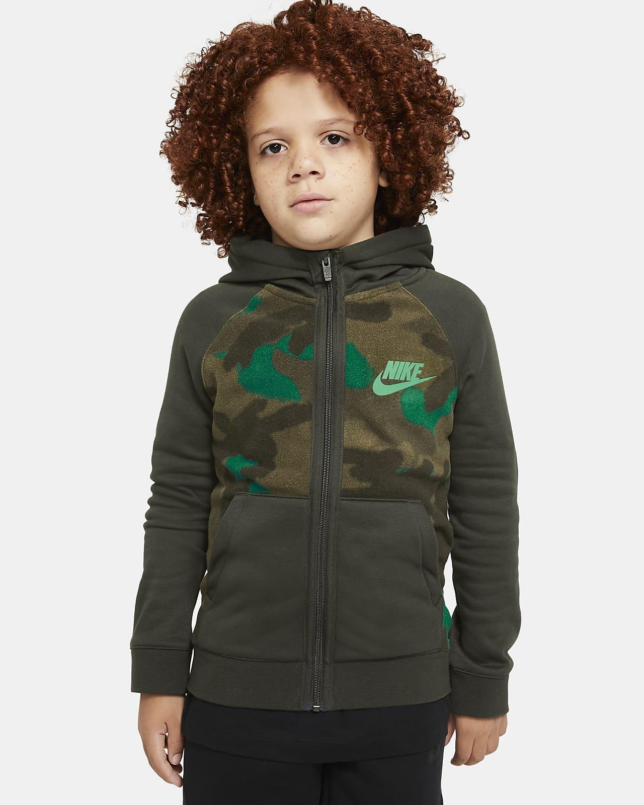 Nike Sportswear Club Fleece 大童(男孩)全长拉链开襟连帽衫