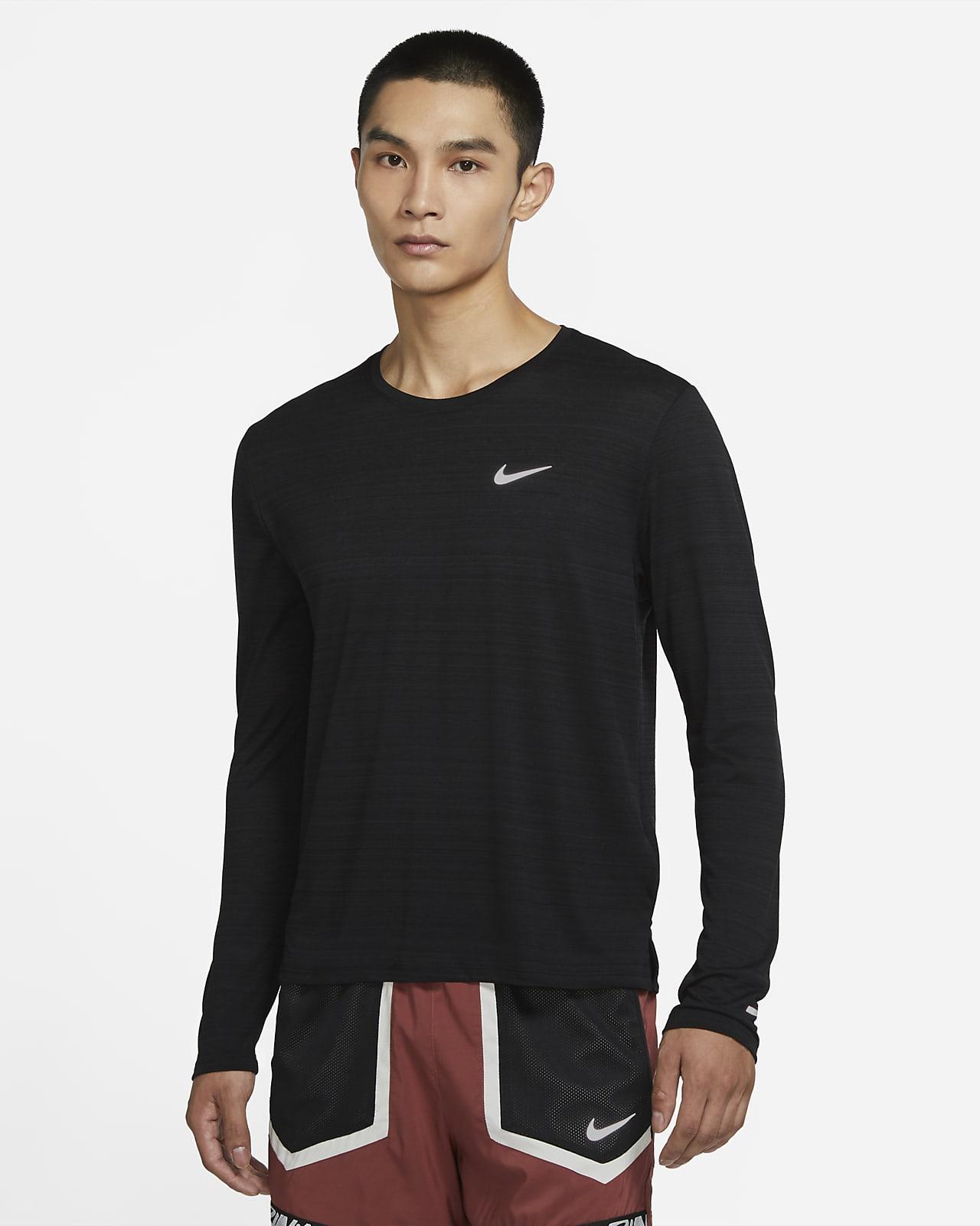 Haut de running à manches longues Nike Dri FIT Miler pour Homme