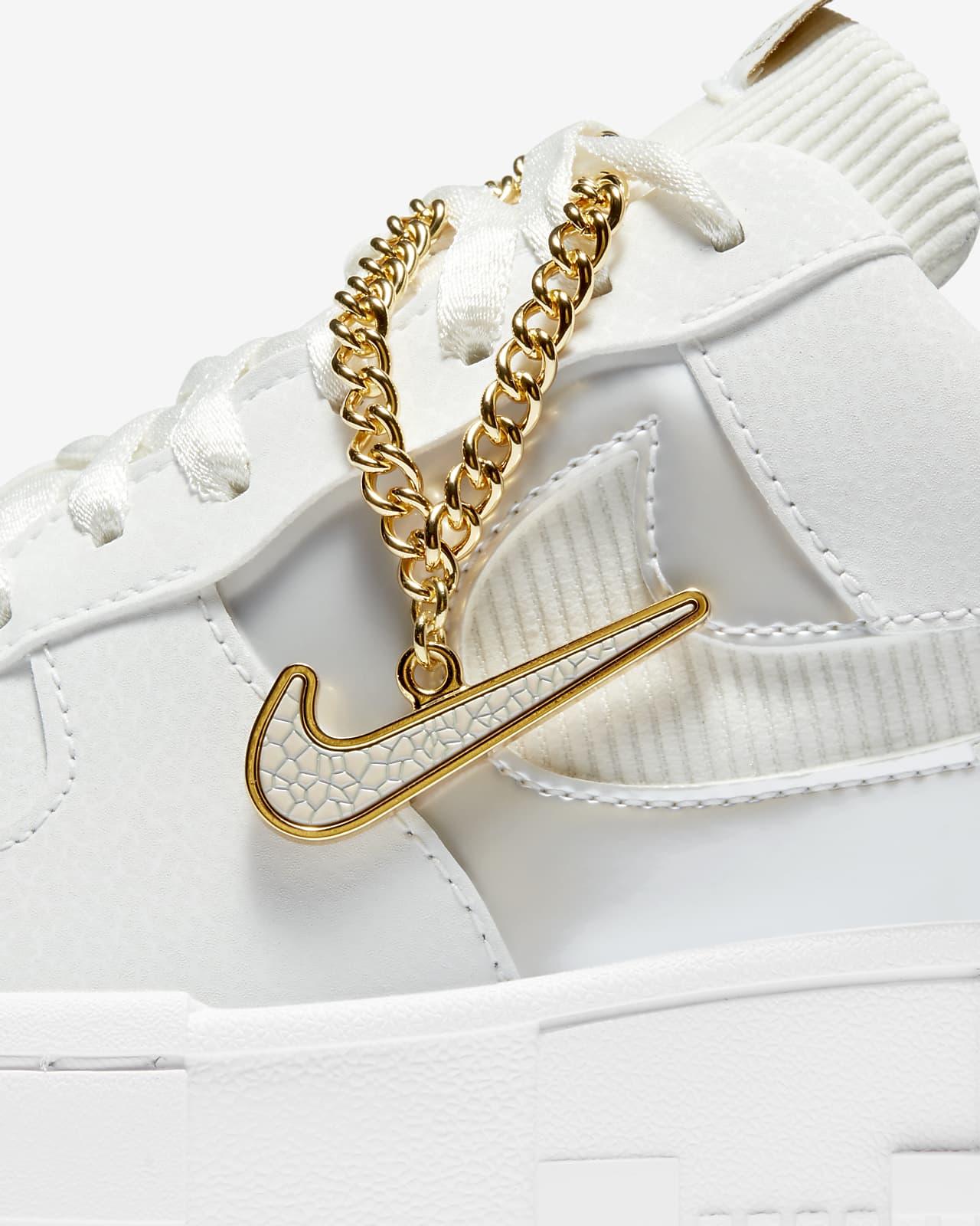 basket nike air force 1 femme gold