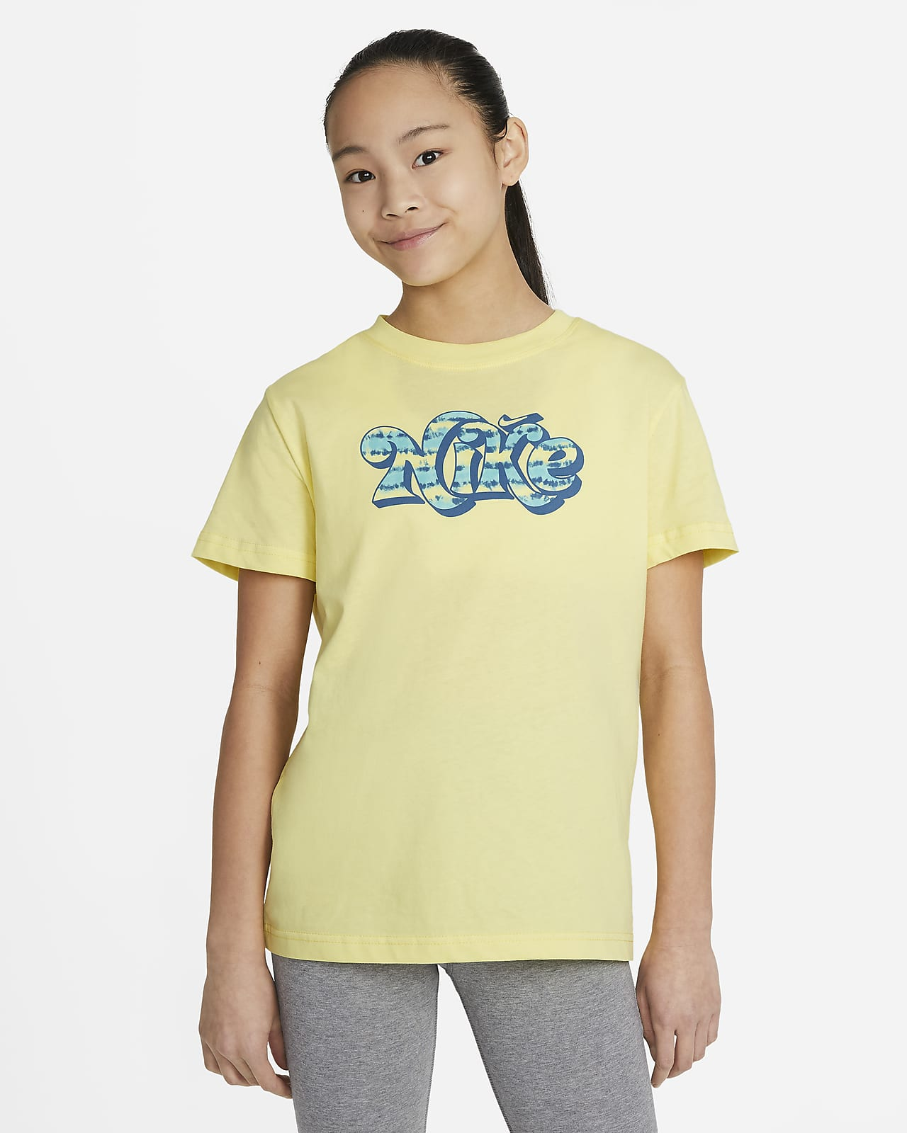 Nike Sportswear Essential Big Kids' (Girls') Tie-Dye T-Shirt