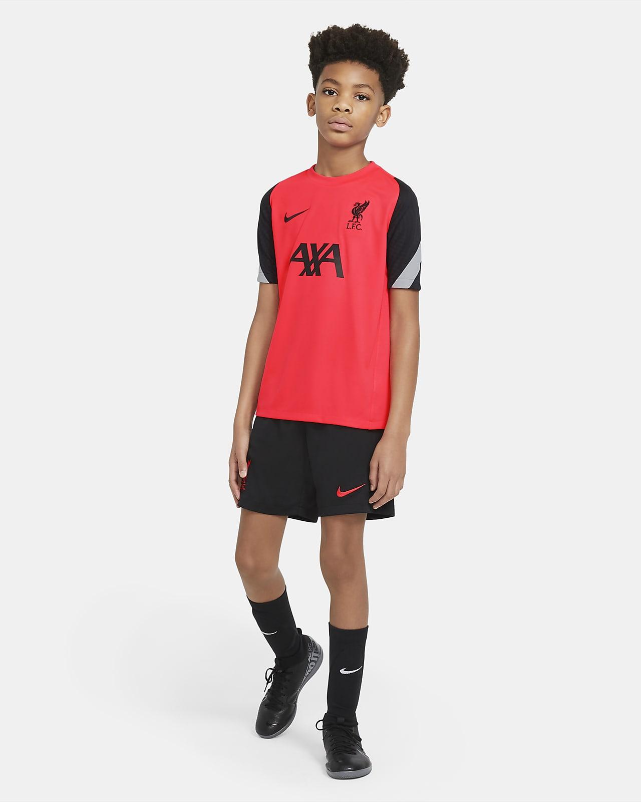 Haut de football à manches courtes Liverpool FC Strike pour Enfant plus âgé