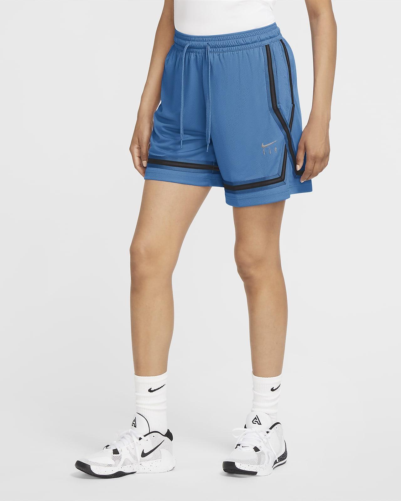 Calções de basquetebol Nike Dri-FIT Swoosh Fly para mulher