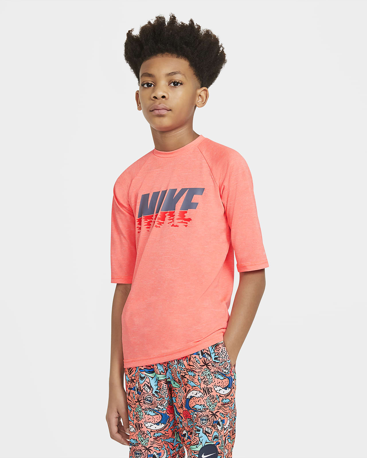 Nike Big Kids' Short-Sleeve Hydroguard Swim Shirt