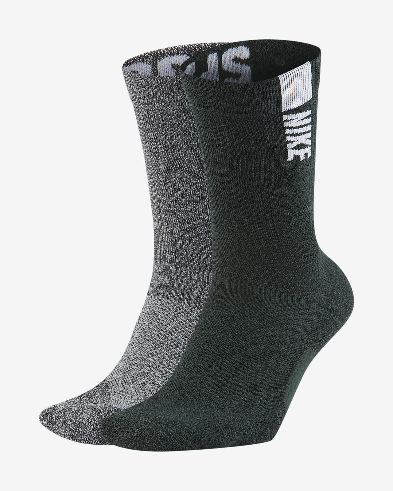 Nike College Multiplier (Michigan State) Crew Socks (2 Pairs)