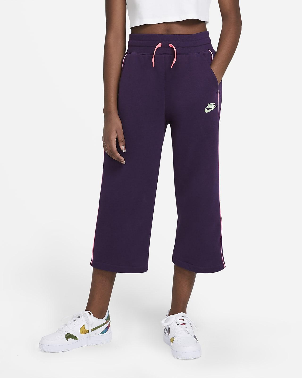 Kalhoty Nike Sportswear zfrancouzského froté pro větší děti (dívky)