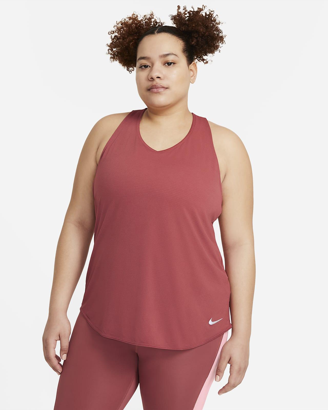 Camiseta de tirantes de running para mujer talla grande Nike Breathe Cool