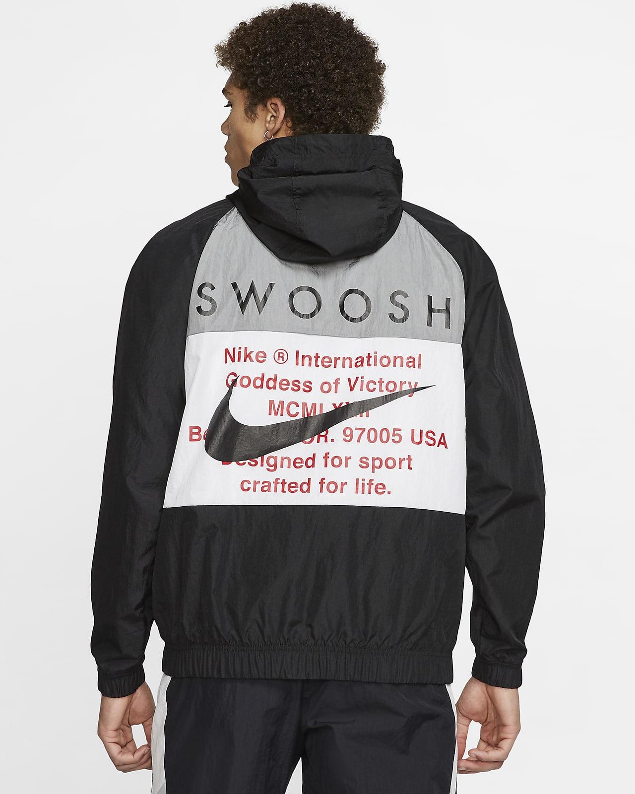 Veste tissée à capuche Nike Sportswear Swoosh pour Homme