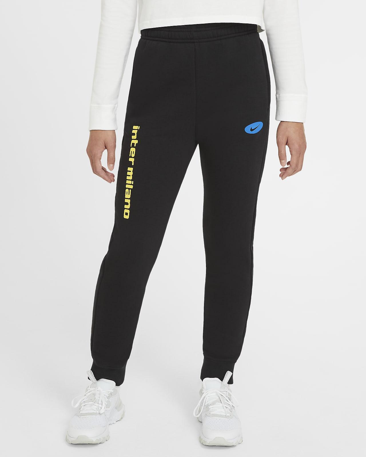 Pantalones de tejido Fleece para niños talla grande Inter Milan