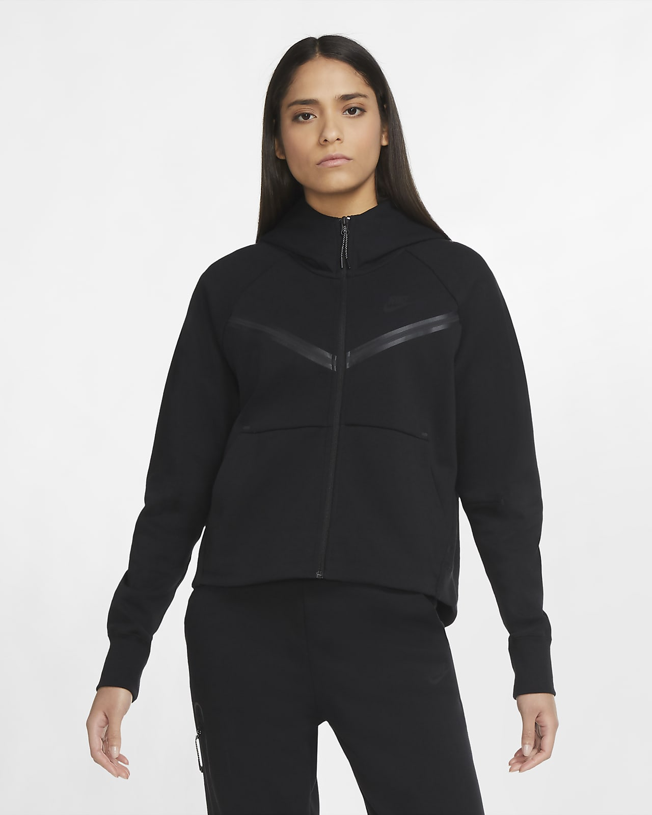 Dámská mikina s kapucí a dlouhým zipem Nike Sportswear Tech Fleece Windrunner