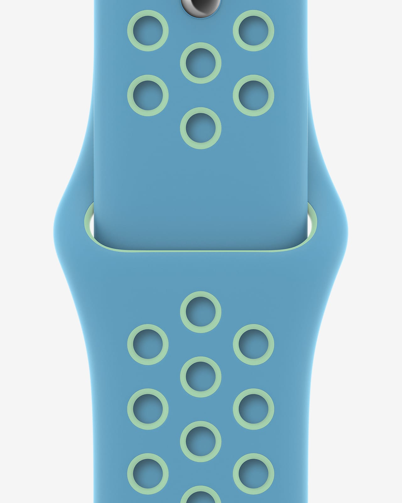 40mm Chlorine Blue/Green Glow Nike Sport Band - Regular