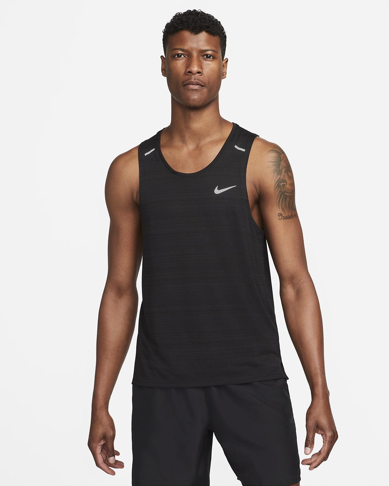 Nike Dri-FIT Miler-løbetanktop til mænd