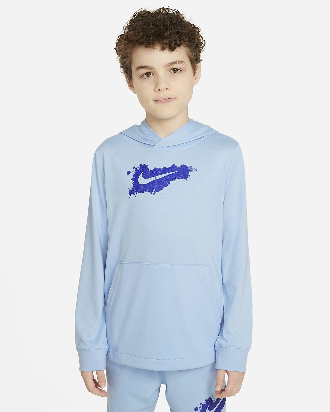 Sudadera con gorro de tejido de punto para niño talla grande Nike Sportswear