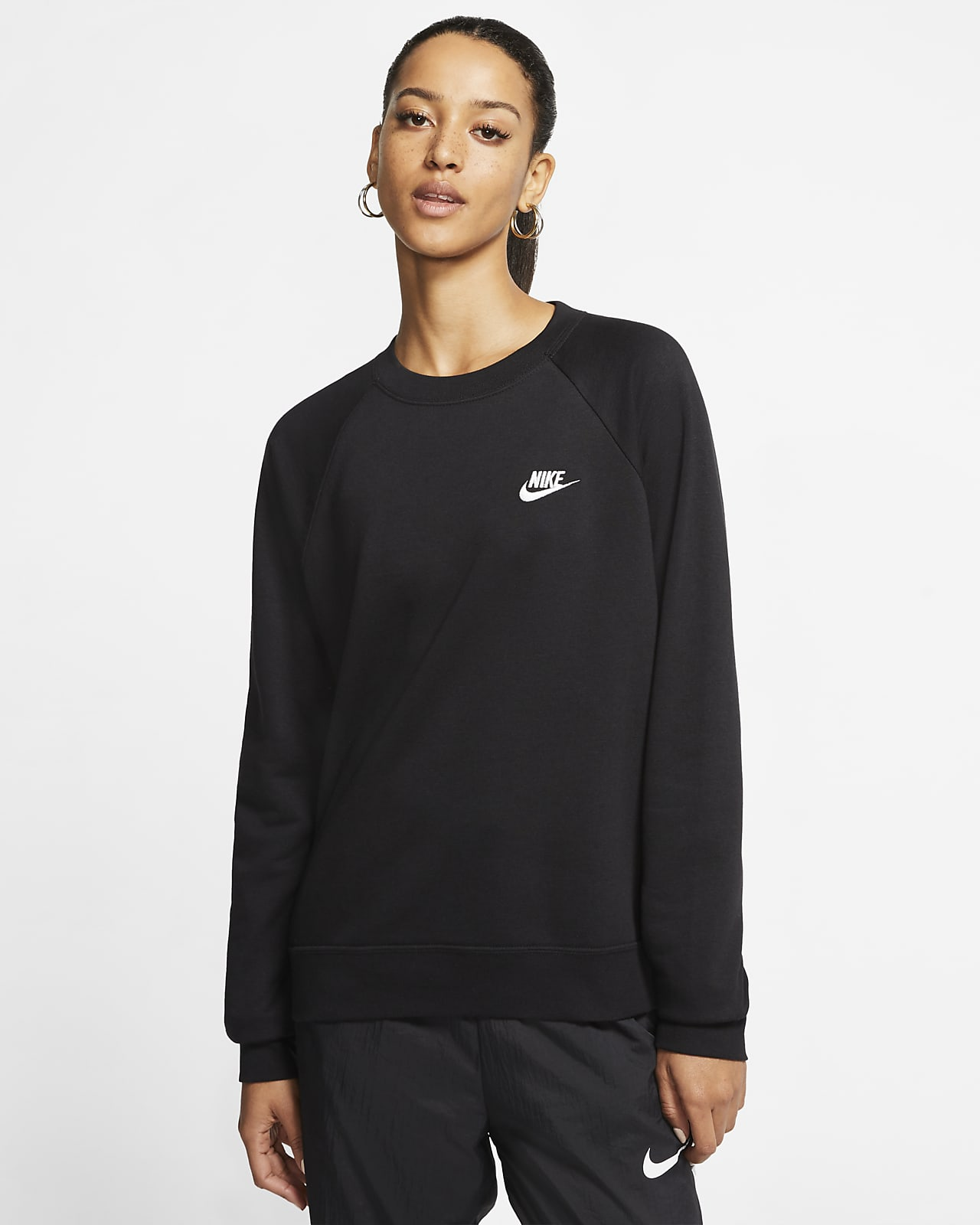 Maglia a girocollo in fleece Nike Sportswear Essential - Donna