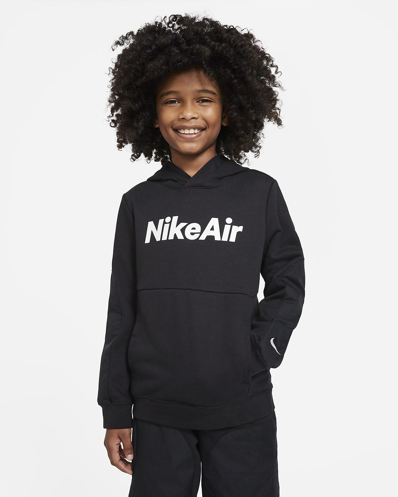 Sudadera con capucha sin cierre de French Terry para niño talla grande Nike Air