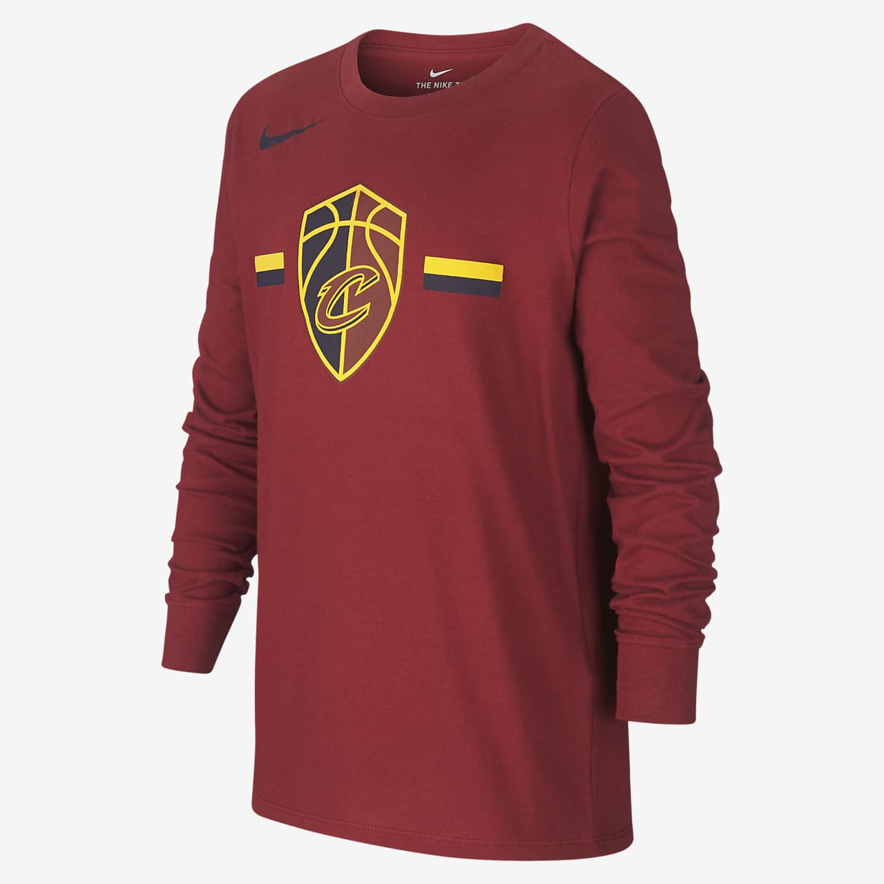 Cleveland Cavaliers Nike Dri-FIT Logo Older Kids' Long-Sleeve NBA T-Shirt