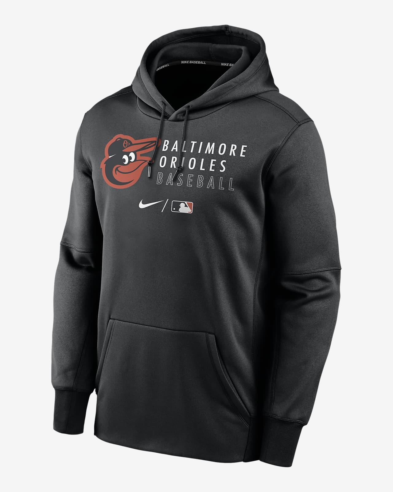 Nike Therma (MLB Baltimore Orioles) Men's Pullover Hoodie