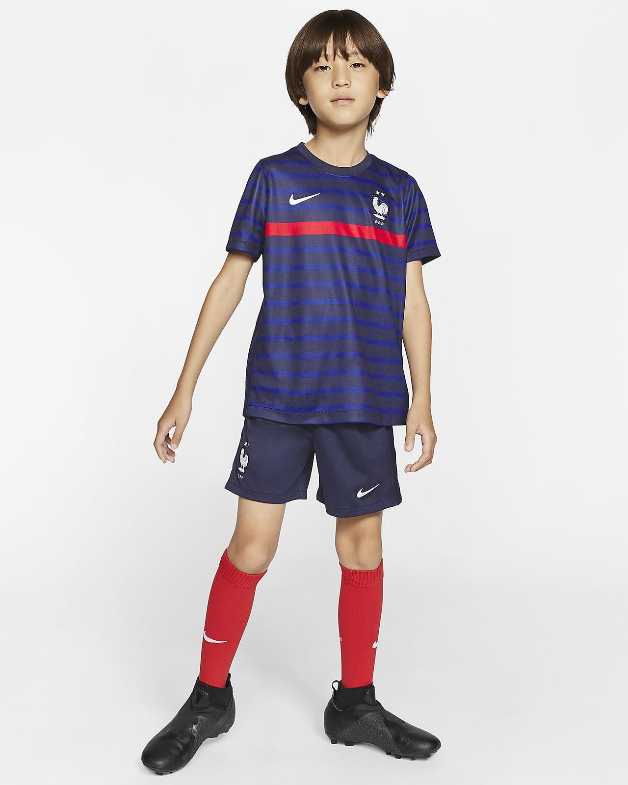 Футбольный комплект для дошкольников с символикой домашней формы сборной Франции 2020