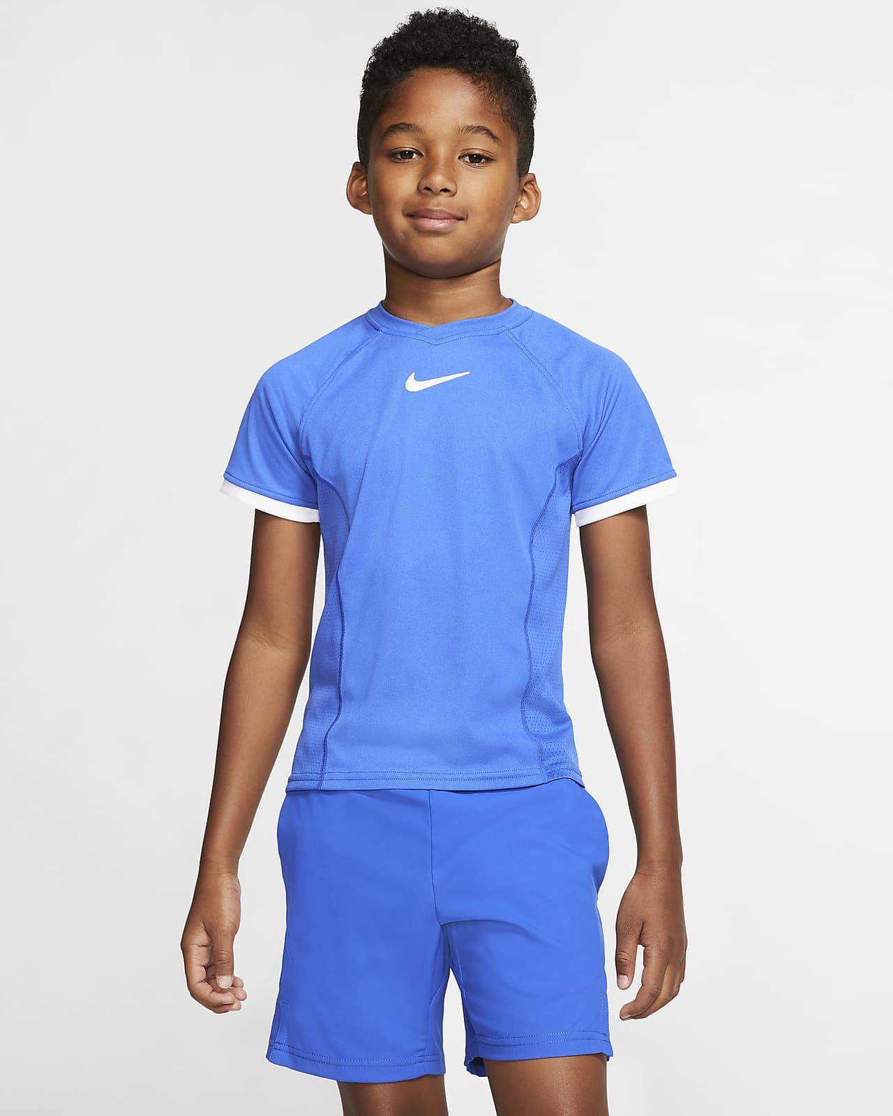NikeCourt Dri-FIT Older Kids (Boys') Short-Sleeve Tennis Top