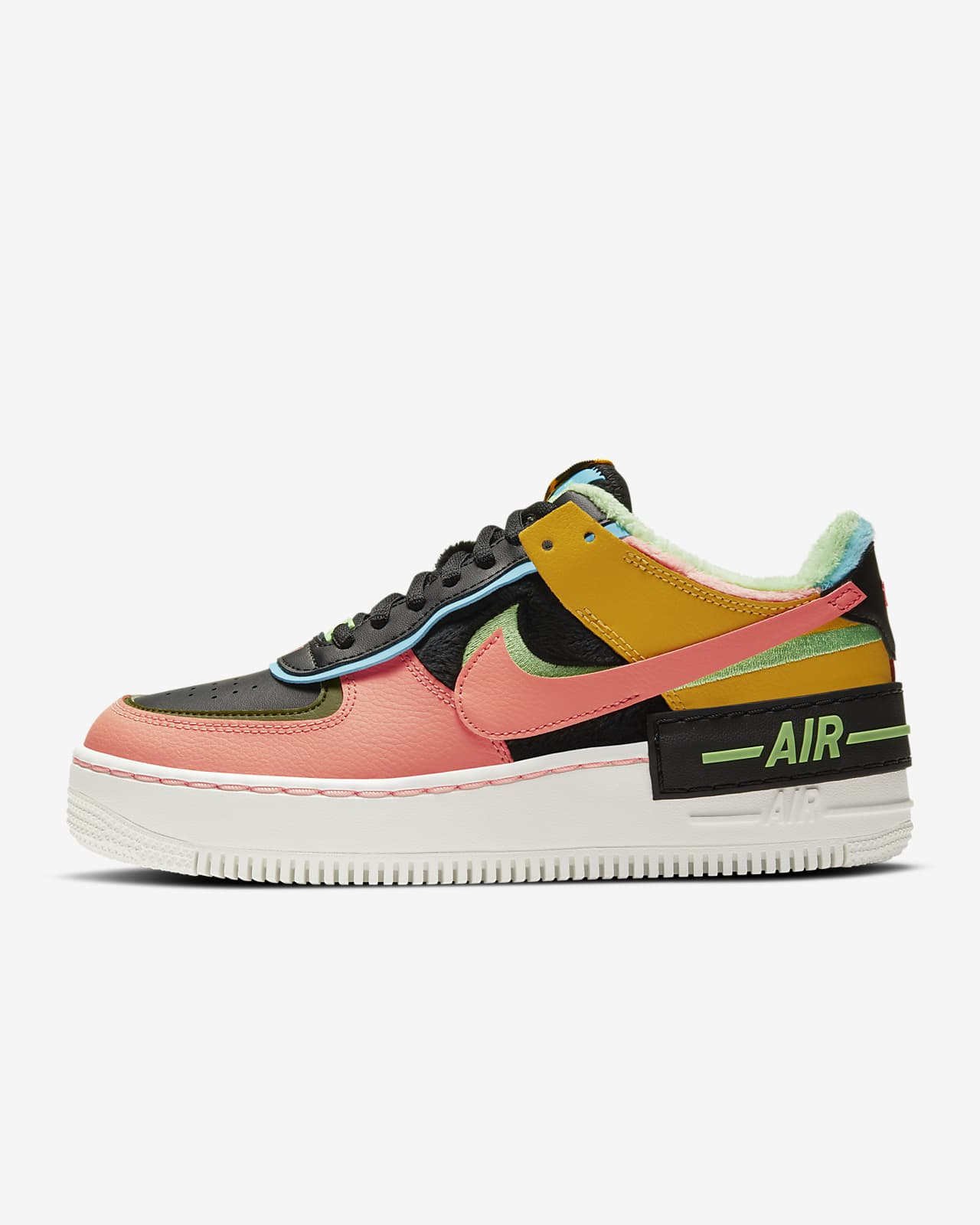 Nike Air Force 1 Shadow Se Women S Shoe Nike Com This version of the classic 'air force 1' has a higher midsole and hollowed outsole, so you get more lift without the heaviness. nike air force 1 shadow se women s shoe