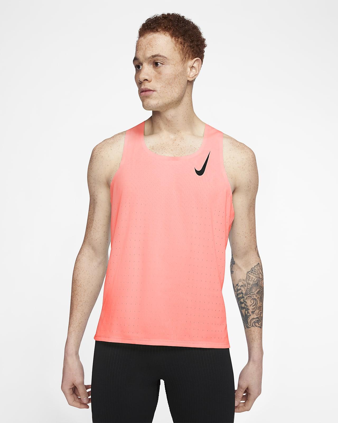 terremoto lealtad Escuchando  Nike AeroSwift Men's Running Singlet. Nike.com