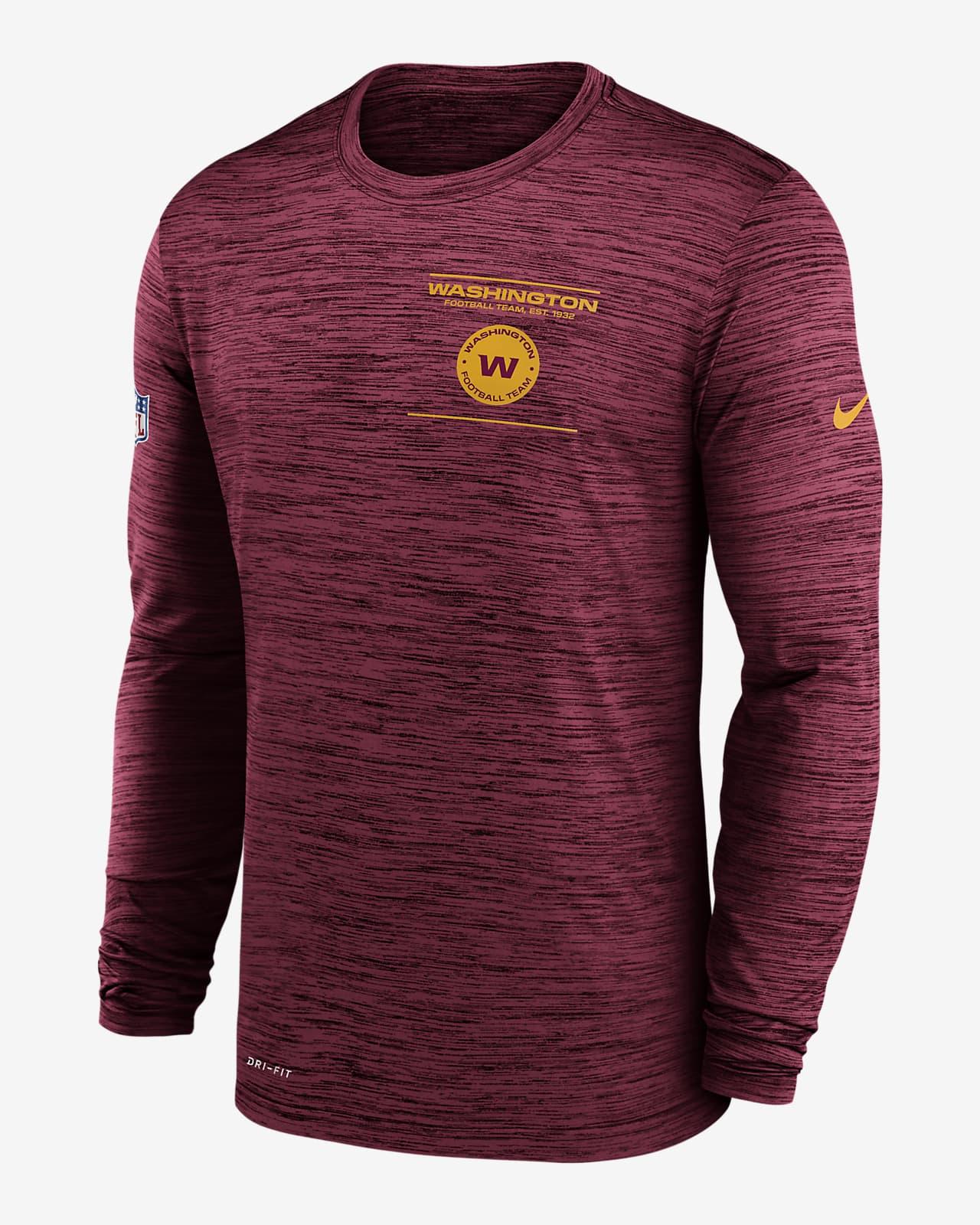 Nike Dri-FIT Sideline Velocity Legend (NFL Washington Football Team) Men's Long-Sleeve T-Shirt