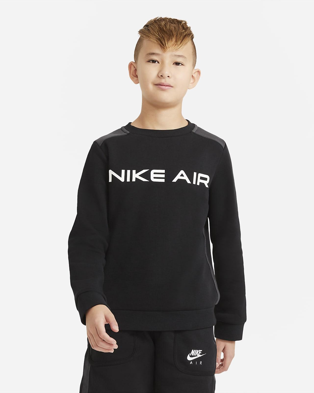 Mikina skulatým výstřihem Nike Air pro větší děti (chlapce)