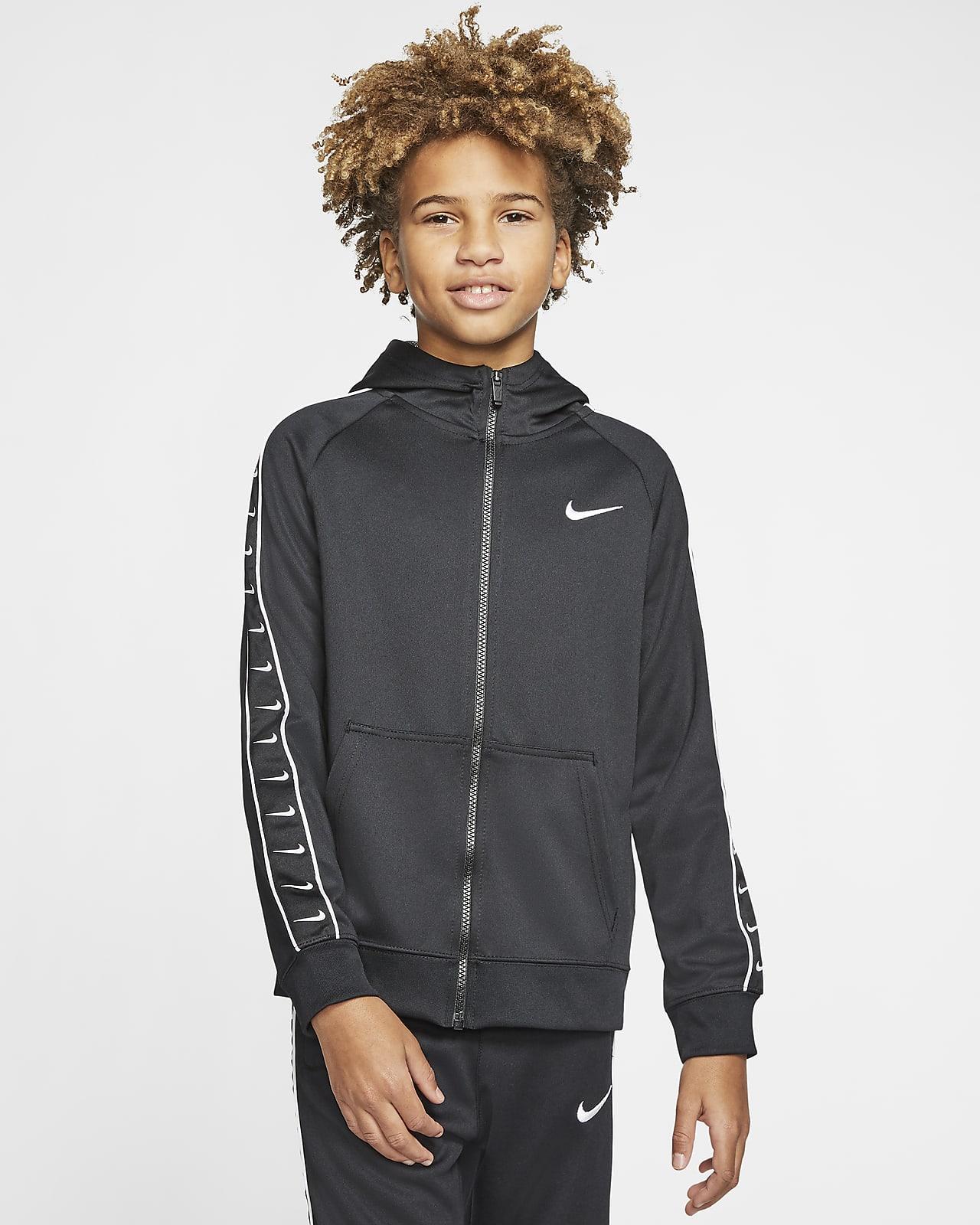 Mikina Nike Sportswear Swoosh s kapucí a zipem po celé délce pro větší děti (chlapce)